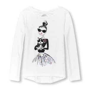 Children Place Girl's Graphic Long Sleeves T-shirt